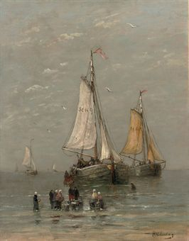 The arrival of the fishing-fleet : Hendrik Willem Mesdag (1831-1915)