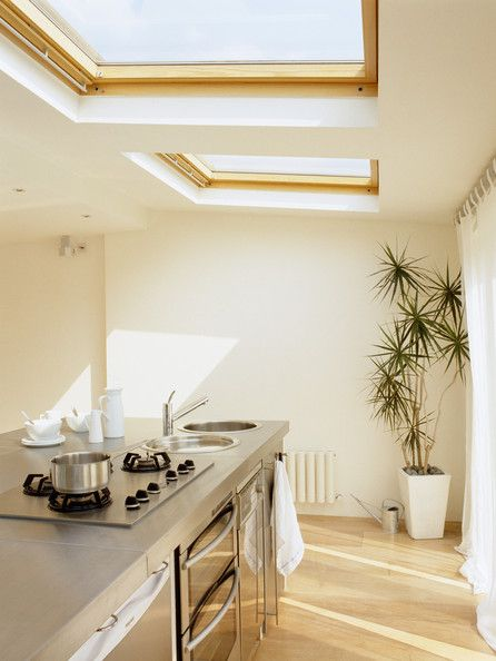 Nothing like natural lighting for the kitchen! #Skylights #ExteriorMedics