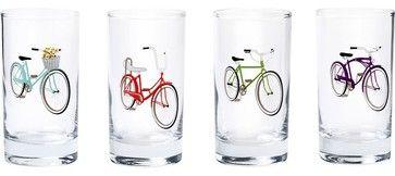 $20. Retro Bike Glasses - eclectic - cups and glassware - Paper Source