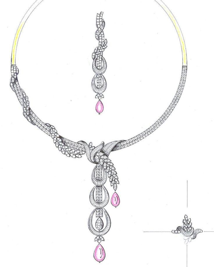 Necklace Concepts. 2D/Manual designs available. #Necklace