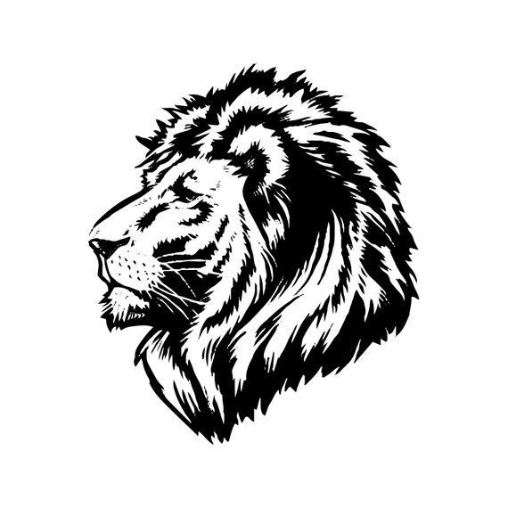 Lion 1 Leopard Jaguar Wild Cat Spots Wildlife Wild Animal Zoo Etsy In 2020 Lion Art Lion Face Animal Drawings