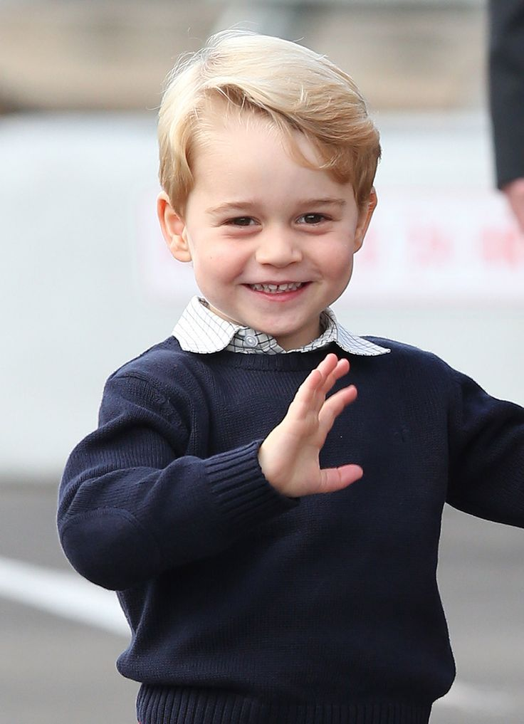 George hams it up for the cameras. October 2016 Photo:Andrew Milligan/PA Wire  via @AOL_Lifestyle Read more: https://www.aol.com/article/lifestyle/2017/03/25/6-things-to-know-about-prince-georges-new-school/22011438/?a_dgi=aolshare_pinterest#fullscreen