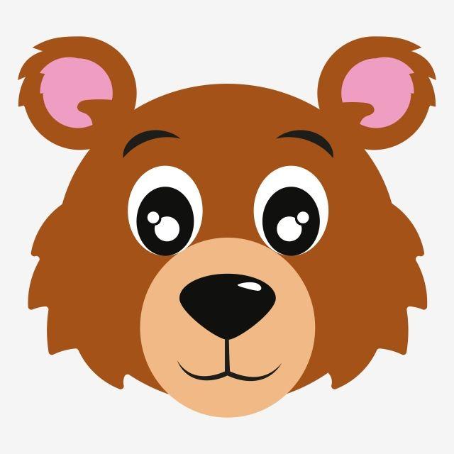 Icon Of Bear Face Animals Vector Bear Face Cartoon Background Bear Face Nature Vector