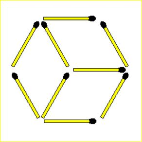3 Triangles Matchsticks Riddle : Picture Brain Teasers And Answers