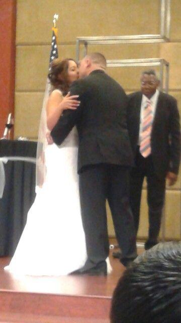 Uncle Robert Kissing His Bride