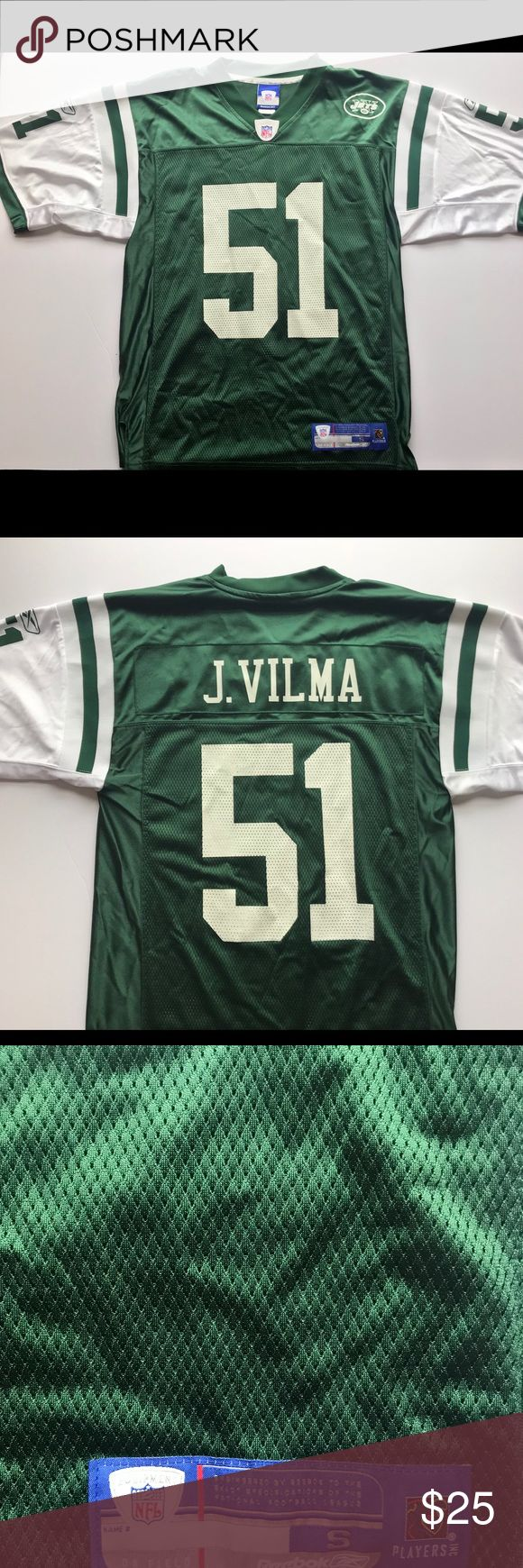 Reebok New York Jets J. Vilma Jersey Item is in great condition and ready for immediate use. Let me know if you have any questions and I'm open to offers! Reebok Shirts Tees - Short Sleeve