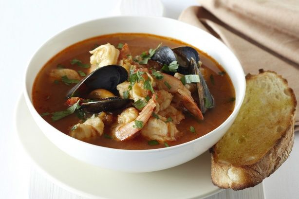This rich seafood soup combines the best from the sea with fresh vegetables and spices.