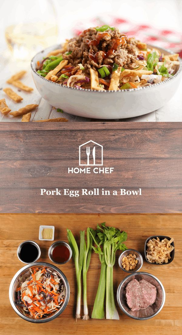 Let's hear it for the best part of any Chinese takeout, the egg roll. We've taken that crunchy handheld wonder, stuffed with vegetables and pork, and deconstructed the whole thing into a bowl.  Multiple sauces, from citrus-y ponzu to a sweet and sour sauce you'll make yourself, pack in the flavor to every bite. You'll be filled with so much delight from this meal, you'll be eagerly awaiting to see what else we'll unroll. Get it?