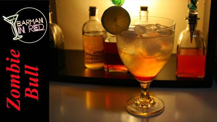 cómo hacer la bebida ZOMBIE BULL