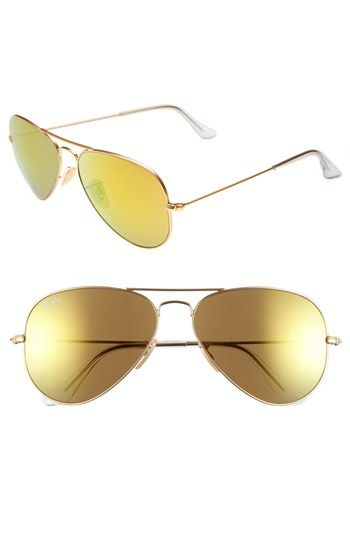 Blue gradient lens..Ray-Ban 'Original Aviator' 58mm Sunglasses available at #Nordstrom