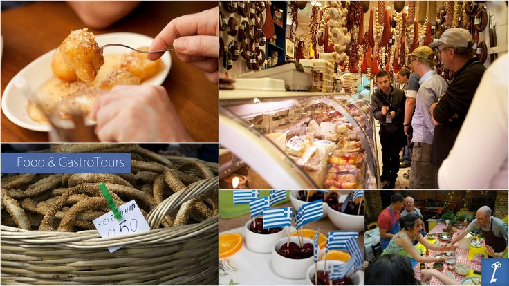"""Each food #walking #tour includes mouth watering #food #tastings from the various specialty and food shops that we will pass along the way on a different """"off-the-beaten-path"""" gastronomical route around central #Athens."""