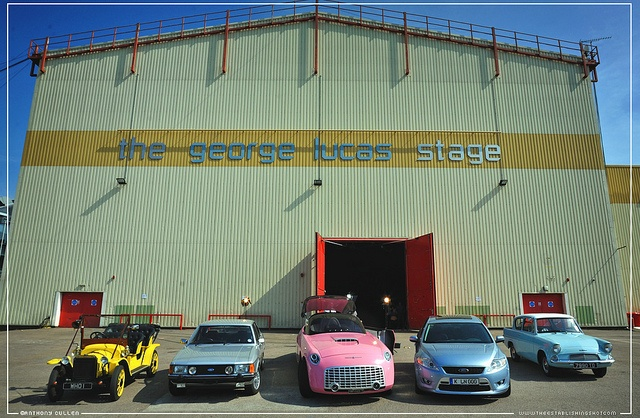 The Establishing Shot This Week : The Ford Centenary Tour Cars George Lucas Stage, Elstree Studios - Credit Anthony Cullen by Craig Grobler, via Flickr