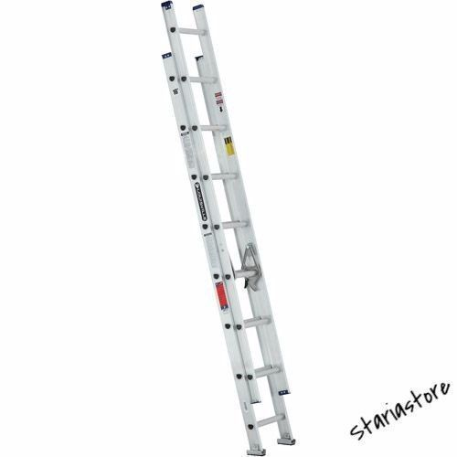 Aluminum Ladder Extension 16' Ft Durable Lightweight Household Painting Roofing #AluminumLadderExtension
