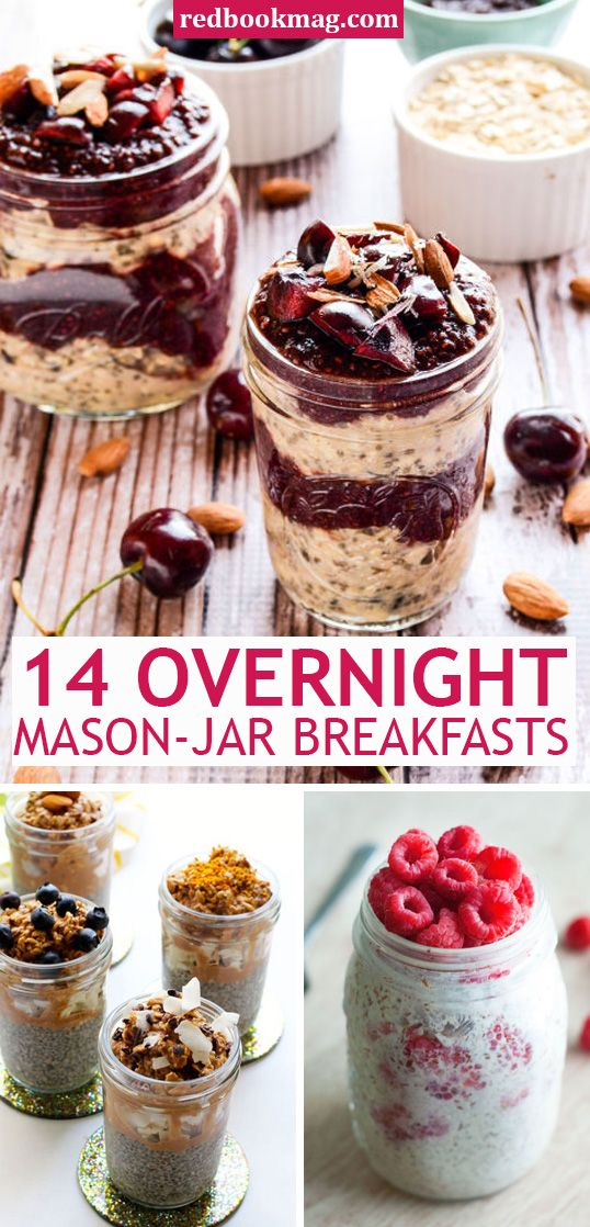 14 Overnight Mason Jar Breakfasts