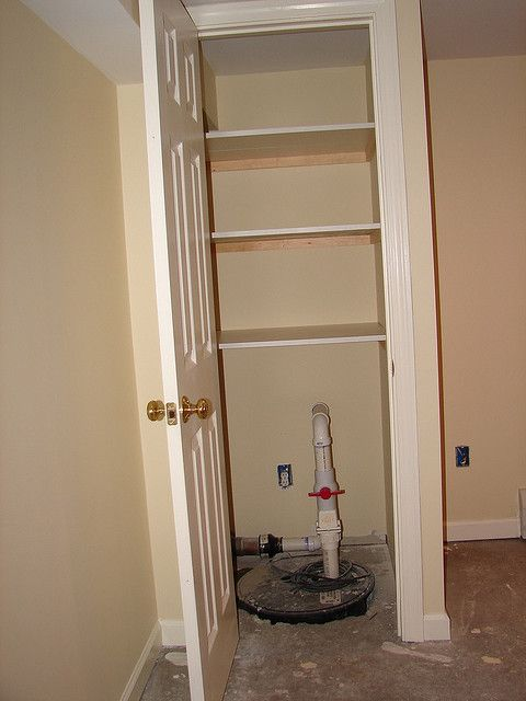 Sump pump closet | Flickr - Photo Sharing!