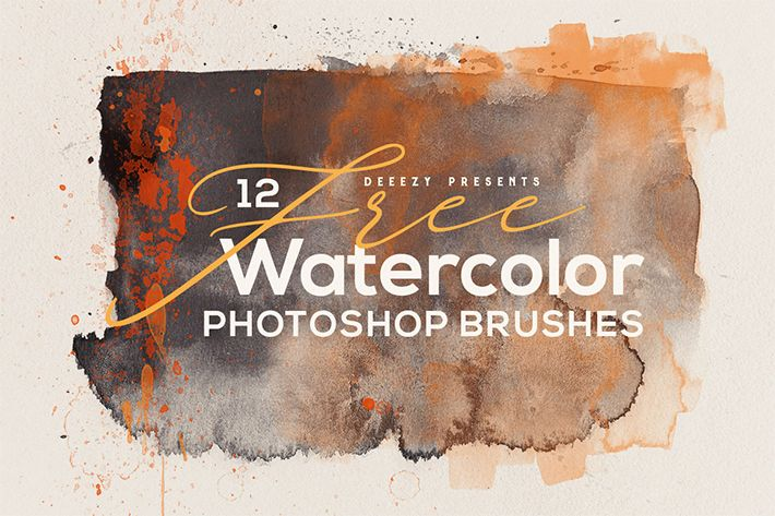 Freebie 12 Creative Abstract Watercolor Photoshop Brushes