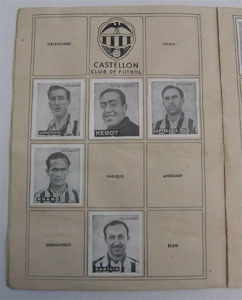 C.D. Castellón. Cromos Editorial Cisne 1942-43. Liga Española.