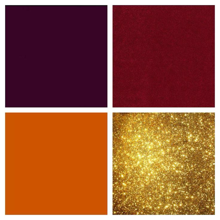 red orange gold purple wedding fall - Google Search