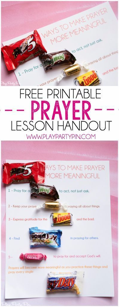 Okay this has to be one of the cutest young women handouts ever, perfect prayer lesson handout idea from http://playpartypin.com. Tons of other great young women handout ideas too!