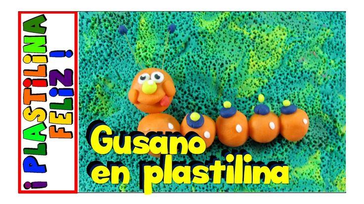 gusano en plastilina, gusano de plastilina