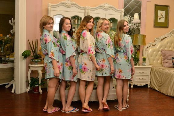 the best bridesmaid gifts cotton kimono robe monogrammed bridesmaids robes cheap wedding robe bridal party robes bridal shower gift SJP00
