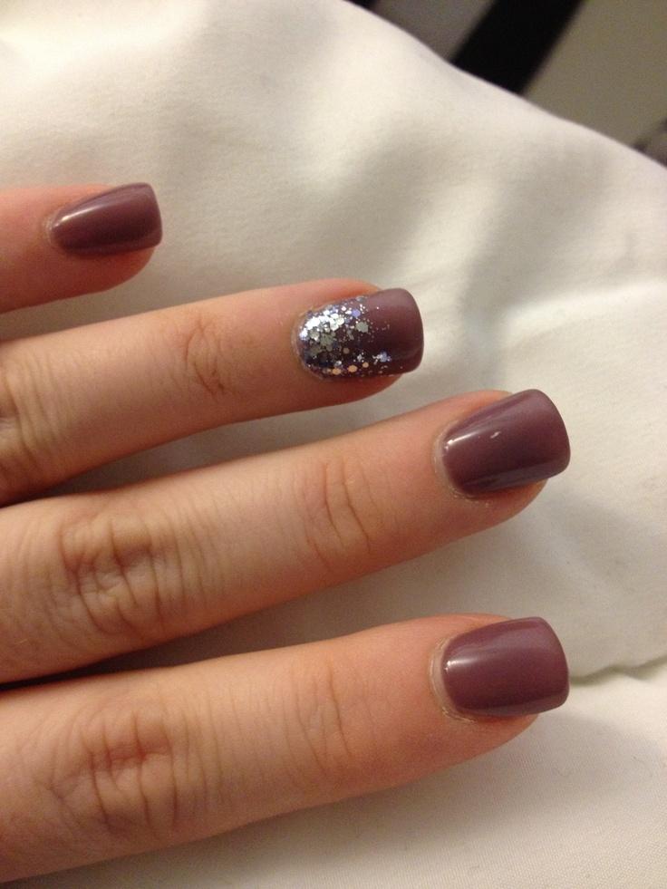 Winter plum flurries nail polish :)