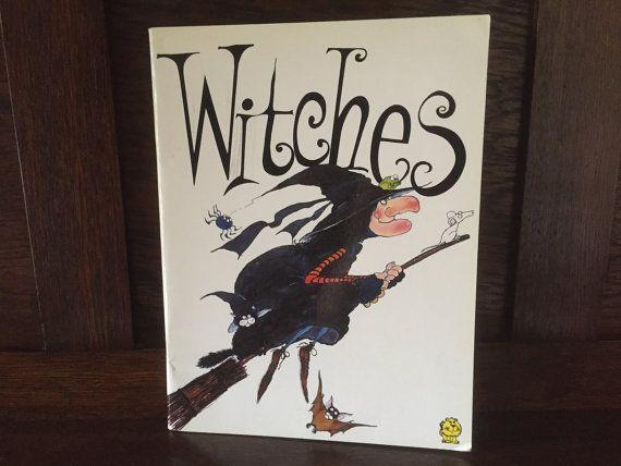 1980s Vintage Children's Book Witches by by BanterVintageBooks