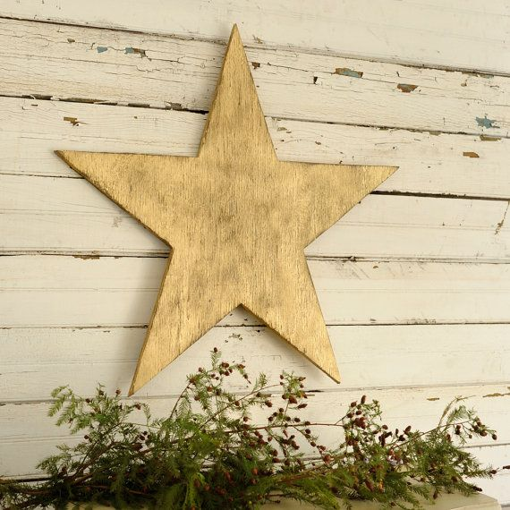 Five Star Holiday Decor Part - 31: Big Wooden Star Holiday Decor Five Point Star By SlippinSouthern