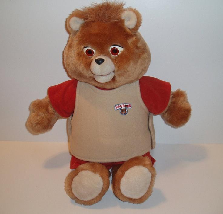 Teddy Ruxpin 1985  talking teddy bear-Worlds of Wonder. $119.99, via Etsy.