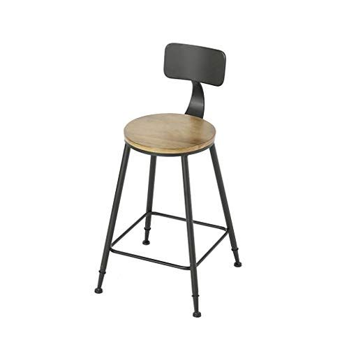 Simple Pine Bar Stool Wrought Iron Frame With Footstool
