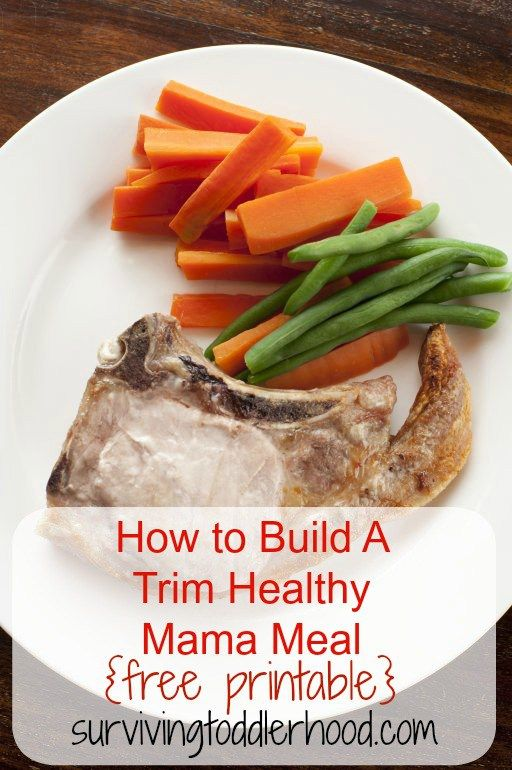How to Build A Trim Healthy Mama Meal {or Gluten Free Meal}