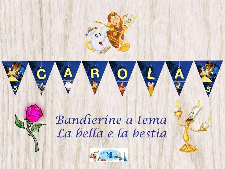 Festone bandierine per feste a tema LA BELLA E LA BESTIA!!! in Casa, arredamento e bricolage, Feste e occasioni speciali, Feste e party, Festoni, ghirlande, striscioni | eBay