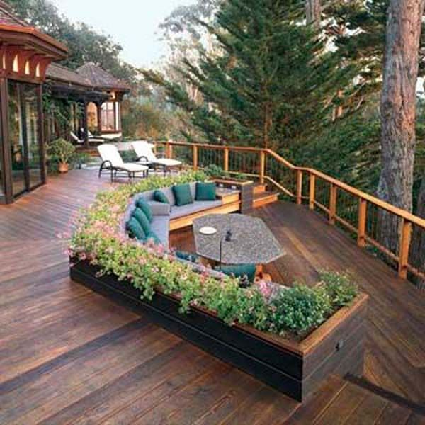 Deck Design Ideas fascinating backyard deck designs with half fence deck and half flat deck using wooden material and also there is a small fireplace in the corner of yard 25 Best Ideas About Deck Design On Pinterest Backyard Deck Designs Patio Deck Designs And Decking Ideas