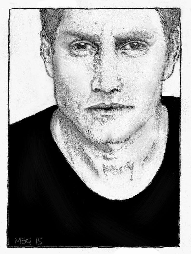 My sketch of Nathan Page - digitally edited to tackle problems with proportion etc - good fun!