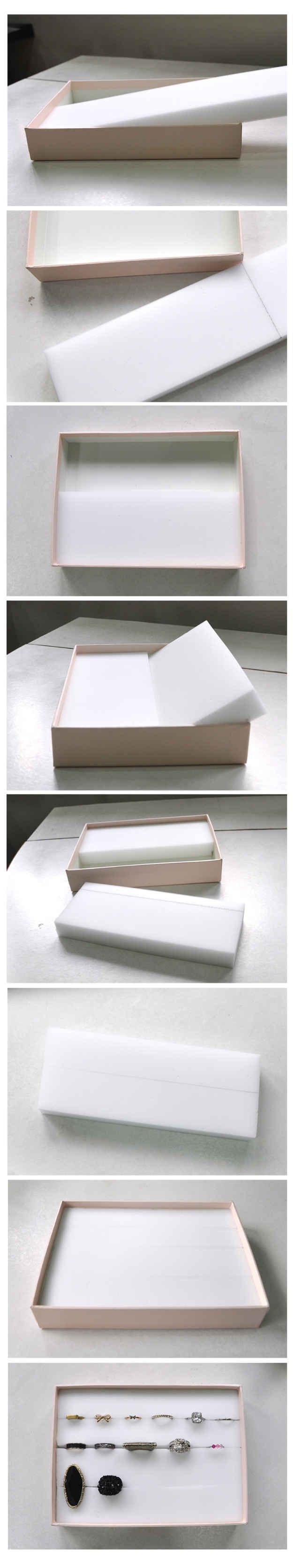 Earing organizer in a box