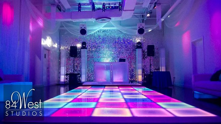 LED Dance Floor  @  84 WEST STUDIOS South Florida Events