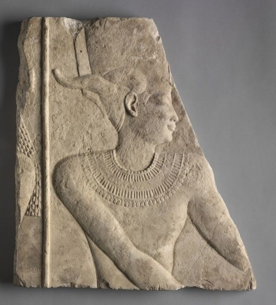 Egypt, Greco-Roman Period, Late Dynasty30 to early Ptolemaic Dynasty, limestone, Overall - h:47.30 w:41.00 cm (h:18 9/16 w:16 1/8 inches). John L. Severance Fund 1972.45