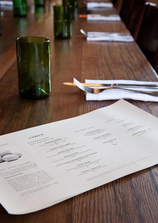 menu design for communal