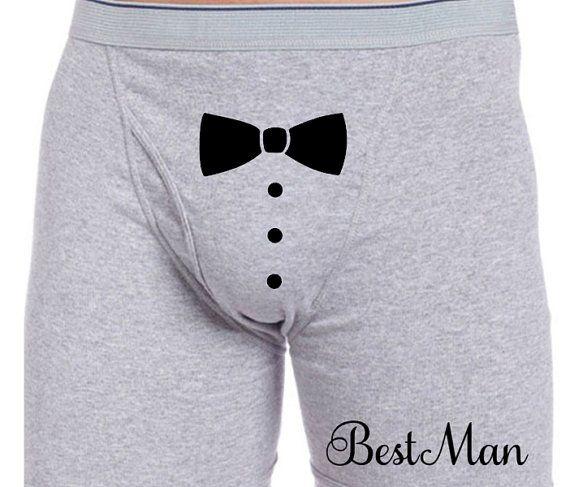 Custom Best Man Boxer Briefs Valentines Sexy by MisguidedMonocle