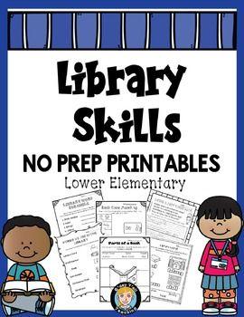 Library Skills No Prep Printables Lower Elementary