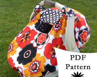 fleece baby carseat canopy | Fitted Car Seat Canopy with Peek-a- Boo Window PDF PATTERN/TUTORIAL ...