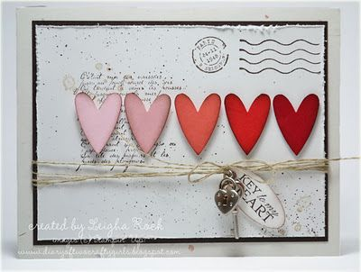 Stampin Up Valentines. Stamp Sets:  French Foliage, Winter Post, You're a Gem