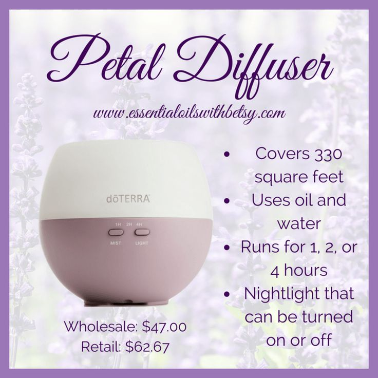 My Review For doTERRA Petal Diffuser The doTERRA branded Petal diffuser packs a lot of power into a lower price point. It is my favorite for kids' bedrooms and other small areas. This doTERRA diffuser has a high mist output with multiple settings and covers up to 330 square feet. Plus... it is purple. What's not to love? I've had my Petal since they first released a few years ago, and it's still going strong! It has an optional night light which may be turned on or off. doTERRA Petal…