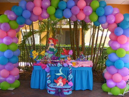 Little mermaid party decorations party ideas pinterest for Ariel birthday decoration ideas