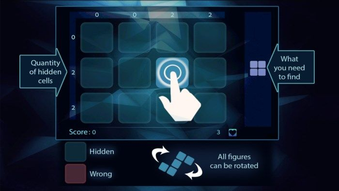 Ailer : Find the hidden figure in this nice logic game