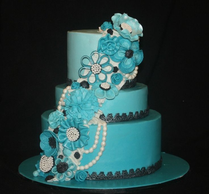 BLUE BIRTHDAY CAKES FOR WOMEN  Blue Birthday Cake