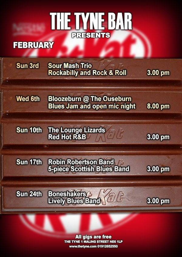 Gigs at The Tyne Bar, February 2013