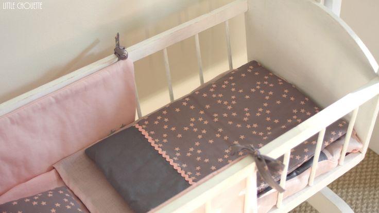 lit de bébé en tissu France Duval stalla