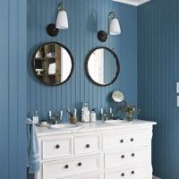 bagno blu e bianco