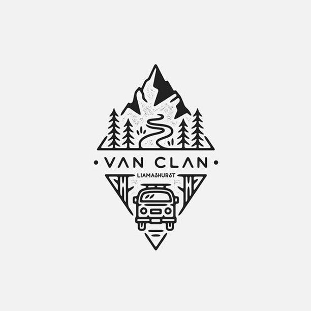 Van Clan Design By Liamashurst Do You Like This Logo Design Your Valuable Feedback Inspire Others Text Logo Design Nature Logo Design Camper Logo Design